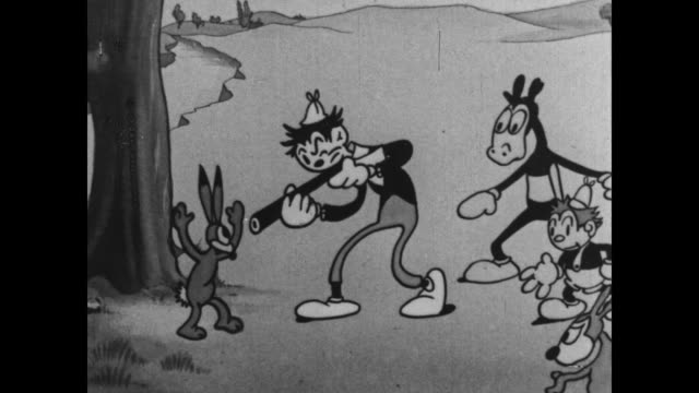 A Rabbit taunts Tom and Jerry