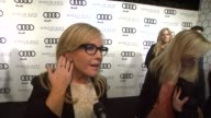 Rachael Harris on kicking off Golden Globe week at this party what she's most looking forward to this evening what she thought of the Audi A8 her...