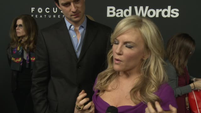 INTERVIEW Rachael Harris on why this film is so universally loved on Jason Bateman on any words she learned from the film at 'Bad Words' Los Angeles...