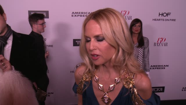 INTERVIEW Rachel Zoe on what brings her out what being fashionable/stylish means to her and who her style icons are at the Harper's BAZAAR Celebrates...