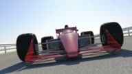 F1 Racing Car Finish Line With Close-Up Shots