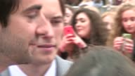 BBC Radio 1 Teen Awards red carpet General views crowds and All Time Low closeups / Matt Edmonson posing for selfies with fans / Little Mix posing on...