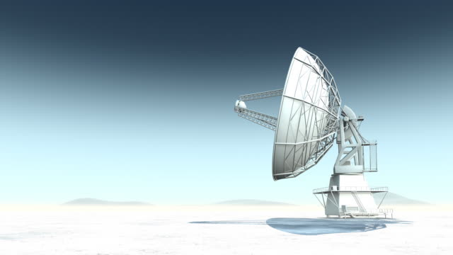 Radio Telescope in Desert Render