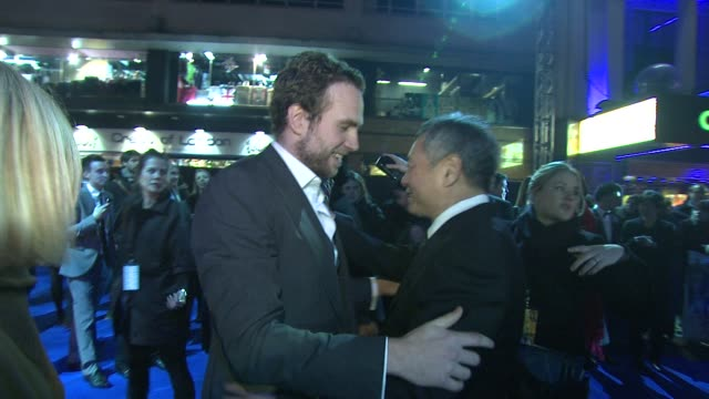 Rafe Spall and Ang Lee at the UK Premiere of 'Life of Pi' at Empire Leicester Square on December 3 2012 in London England