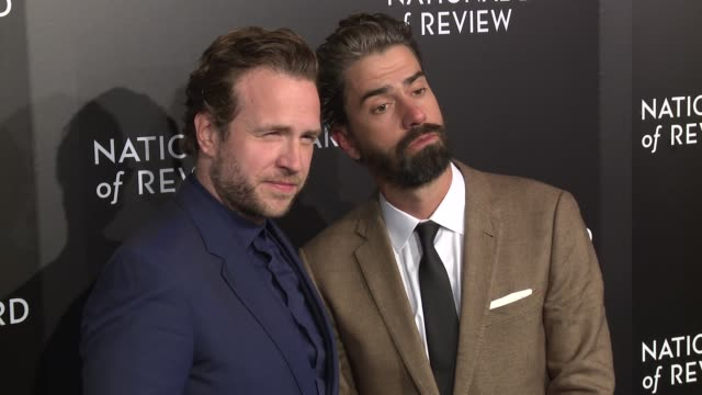 Rafe Spall and Hamish Linklater at The National Board of Review Gala honoring the 2015 Award Winners at Cipriani 42nd Street on January 05 2016 in...
