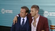 Rafe Spall and Machine Gun Kelly at The Showtime Original Series 'Roadies' Los Angeles Premiere at The Theatre at Ace Hotel Downtown LA on June 06...