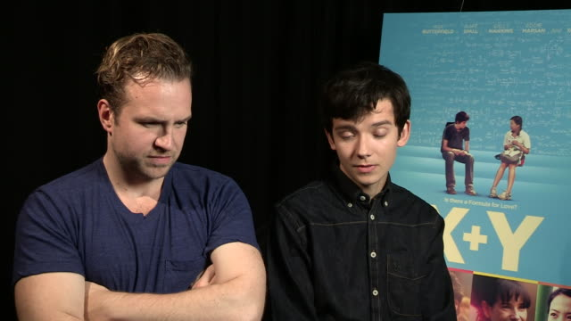 INTERVIEW Rafe Spall Asa Butterfield on reading the script what attrached them to the film at 'XY' Interview on October 15 2014 in London England