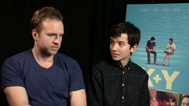 INTERVIEW Rafe Spall Asa Butterfield on their maths skills at 'XY' Interview on October 15 2014 in London England