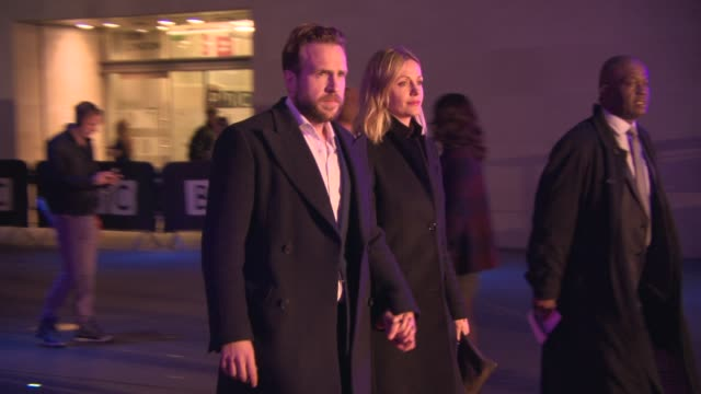 Rafe Spall Elize du Toit at BBC Films 25th Anniversary Reception at BBC Radio Theatre on March 25 2015 in London England