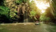 Rafting trip at Tee lor su waterfall Tak Thailand