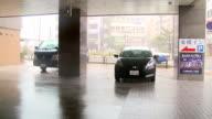 Raging Hurricane Eyewall Winds And Rain Lash City