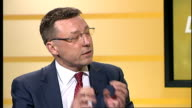 Rail fares set to rise by average of 62 per cent ENGLAND London INT Edward Welsh LIVE STUDIO interview SOT