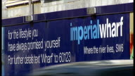 new Imperial Wharf Overground station to be built ENGLAND London Imperial Wharf EXT General views of apartment blocks being built at riverside...