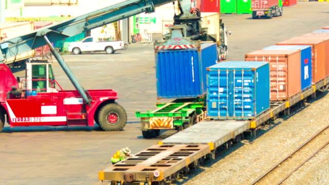 Railroad cargo ship