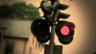 Bahnübergang Signal-Farbe