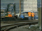 Railtrack admit soaring cost of rail repairs/service disruption ITN Leeds Track repairs underway