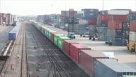 Railway cargo containers.