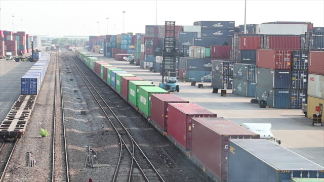 Railway cargo containers.