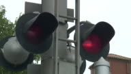 (HD1080i) Railway Crossing Bells and Flashing Lights