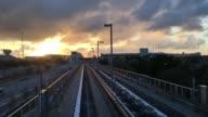 Railway ride near Miami Airport, Miami, Florida, United States