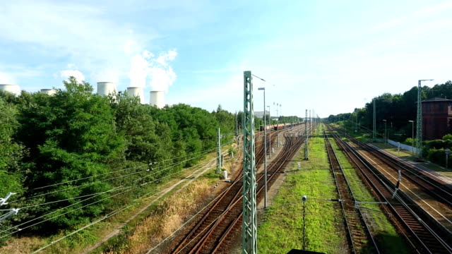 Railway station and power plant