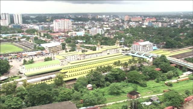 Railway Station In Myanmar