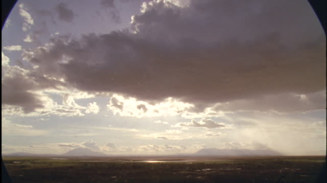 Rain clouds over savannah, Africa Available in HD.