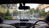 Rain drive at residential street