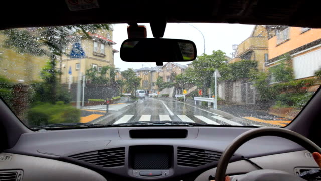 Regen drive in Wohnstraße