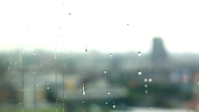 Rain drop at window
