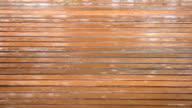 Rain drop on wood floor