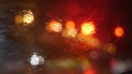 Rain Drops Flowing Down Window