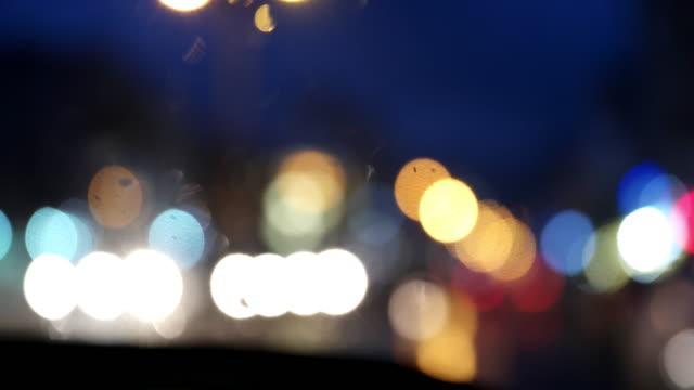 Regen-Tropfen am Fenster