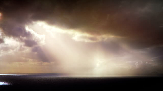 Pioggia sull'oceano