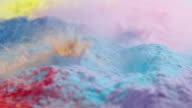 Rain water drop splashing abstract backgrounds slow motion colorful powder