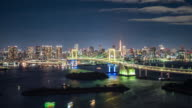 T/L WS HA ZI Rainbow Bridge at Night / Tokyo, Japan