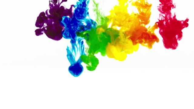 Regenbogen Farben im Wasser