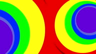 Rainbow Hypnotic Animated Cartoon Background