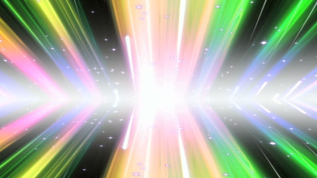 Rainbow Light Streaks Background Loop