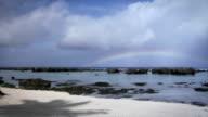 Rainbow Over Ocean on Tropical Paradise Island (HD)