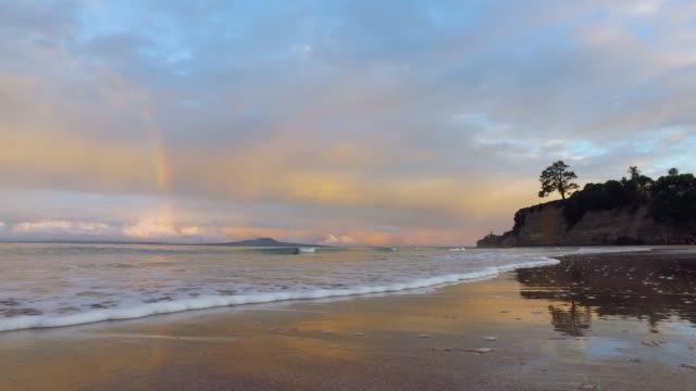 Rainbow over Rangitoto Island