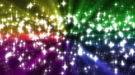 Rainbow Sparkles Background Loop