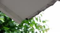 raining drop through eaves