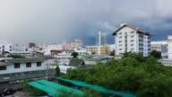 Rainy Day-Stadt Zeitraffer
