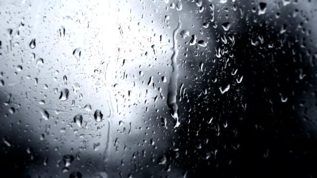 Rainy Day Rain Drops On Glass (Full HD)