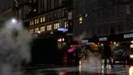 Rainy Midtown Street Scene