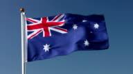 Raising Australia flag