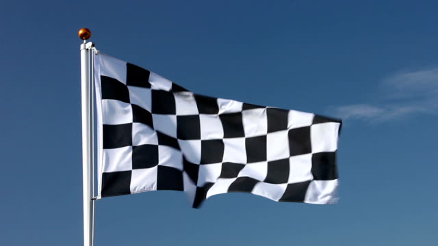 Raising the chequered flag