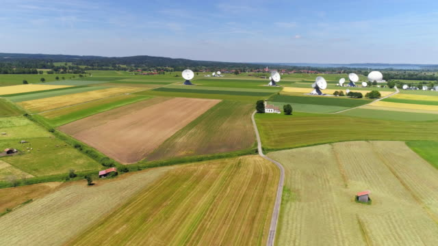 Raisting Satellite Earth Station In Bavarian Alpine Foreland