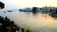 Rajasthan Udaipur Lake Pichola India people sunset